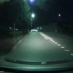 ドライブレコーダーで記録した映像(夜間)