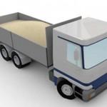 産廃満載のトラック