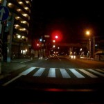 GoSafe 200をFIT(GK3)に取り付けた時の夜間画像