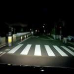 GoSafe 200の夜間映像(静止画像)