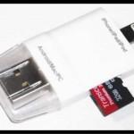 iPhoneとmicroSDメモリーカード