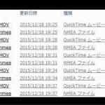 動画ファイルの容量(hp f520g)