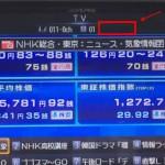 地上デジタル放送の受信状態