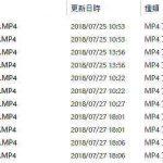 GoSafe S36GS1で記録したファイル一覧