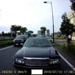 GoSafe S36GS1のリアカメラ映像